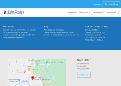 Divi Tutorial – a custom Divi layout for Safe Choice
