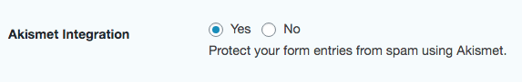 Protect your form entries from spam using akismet