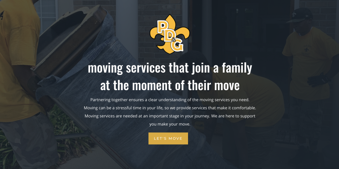 """Divi Tutorial Full length, """"Moving Services"""" premade layout for Pack Dat and Geaux"""
